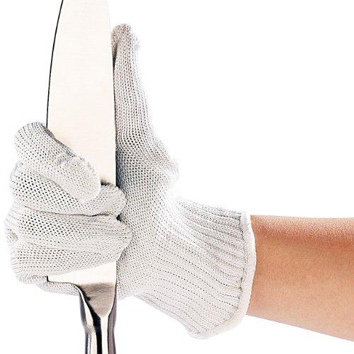AGT 1 Paar Nylon-Stahl-Handschuhe mit Schnittschutz