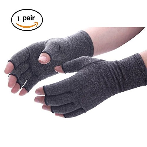 Arthritis Gloves for Rheumatoid & Osteoarthritis,Compression Gloves Provide Arthritic Joint Pain Symptom Relief,Support Warmth for Hands - Men & Women (L) by Qureal