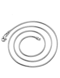 "18"" 18 Inch 925 Silver Plated 1.2MM Snake Chain Necklace New ¡­"