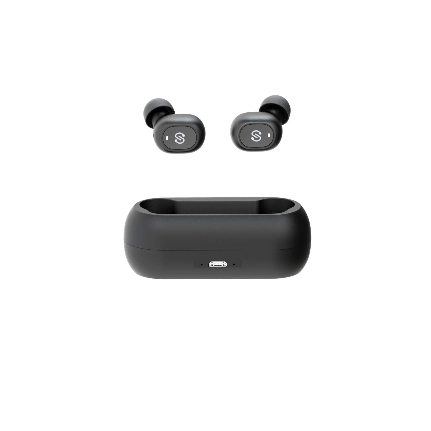 True Wireless Earbuds Bluetooth 5.0 in-Ear Stereo Bluetooth Headphones with Microphone Wireless Earphones 15 Hours Playtime, Hands-Free Calls, One-Step Pairing