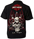 Harley-Davidson Las Vegas Cafe V-Twins and Skulls Biker Shirt