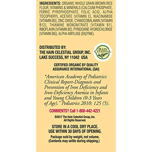 51bAZy h2GL - Earth's Best Organic Whole Grain Rice Cereal, 8 Ounce