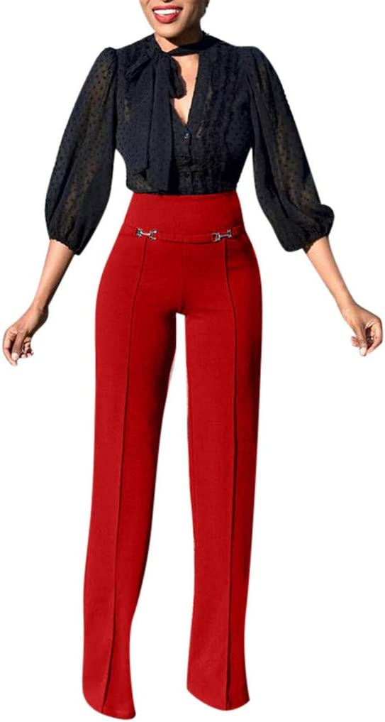 2018 Womens Winter Pants,Casual Bow Ladies Loose Pocket Trousers by-NEWONESUN