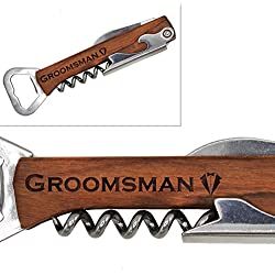 "My Personal Memories Corkscrew and Multi Tool for Bachelor Party - Wine Beer Bottle Opener Favor for Weddings, Groomsman, Best Man, Groom (Tuxedo Groomsman 5"")"
