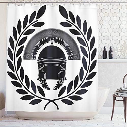 Ambesonne Toga Party Shower Curtain, Ancient Greek Figure