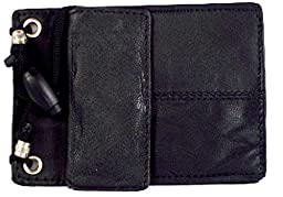 Leather ID Holder from Marshal- 561r,Black,Regular