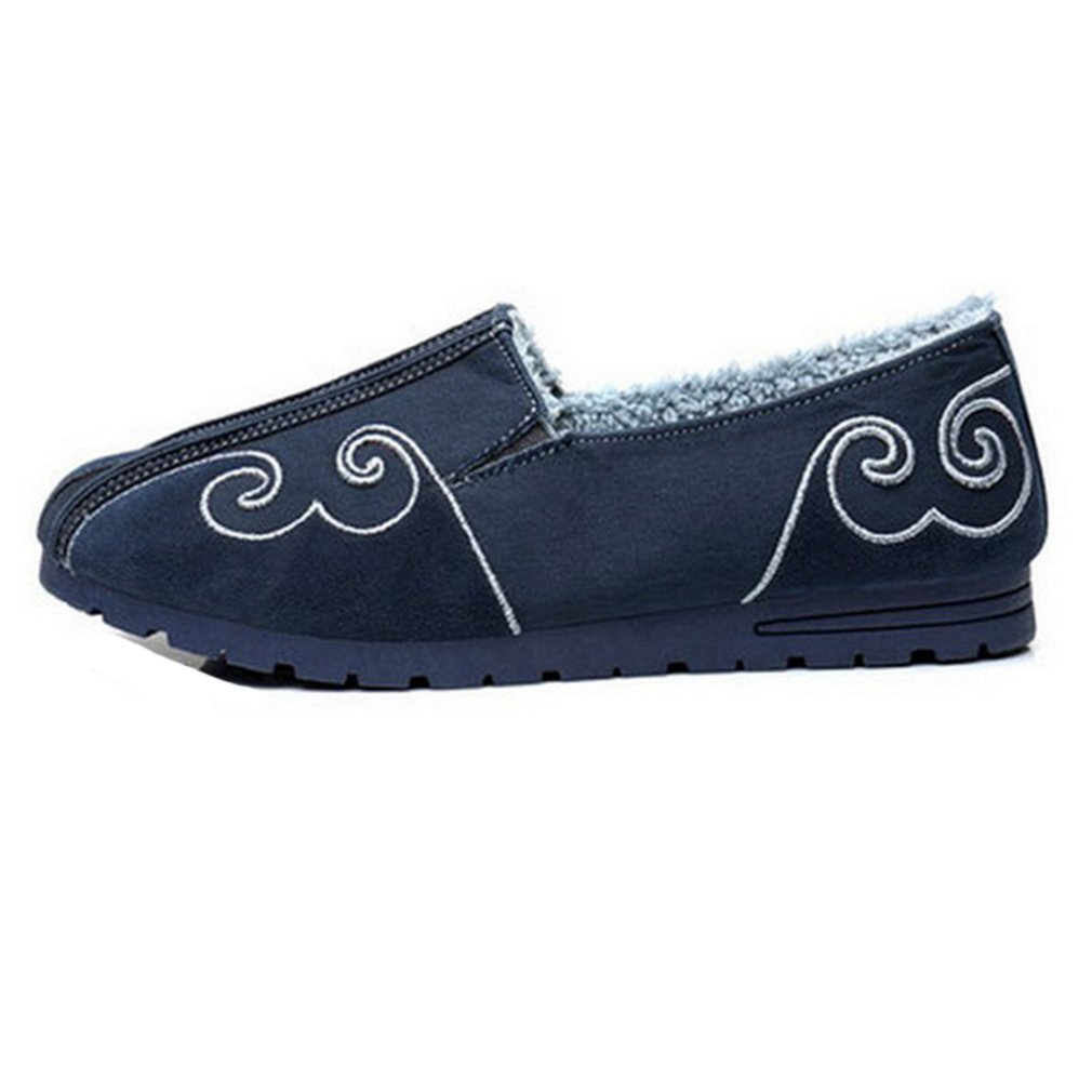 FANGDA Mens Chinese Style Keeping Warm and Thickening Low Shoes Cotton Cloth Kung Fu Shoes for Winter