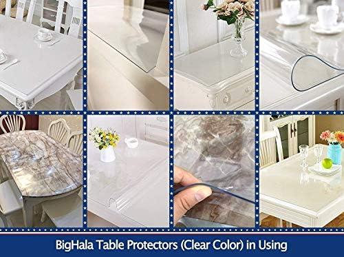 Amazon.com: Redondo de plástico transparente vinilo de PVC ...