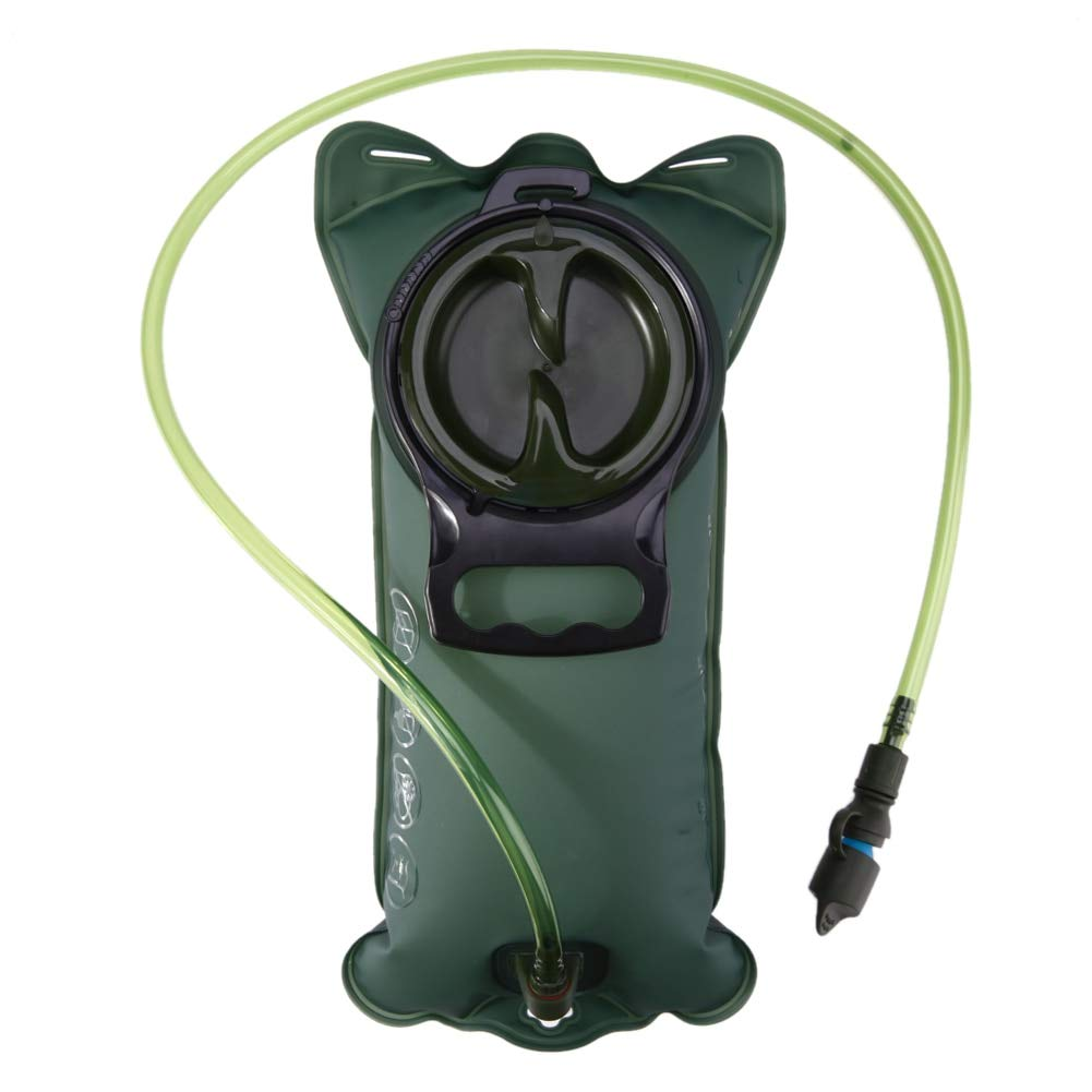 Culturemart 2L TPU Bicycle Mouth Sports Water Bag Bladder Hydration Camping Hiking Climbing Military Green Camelback