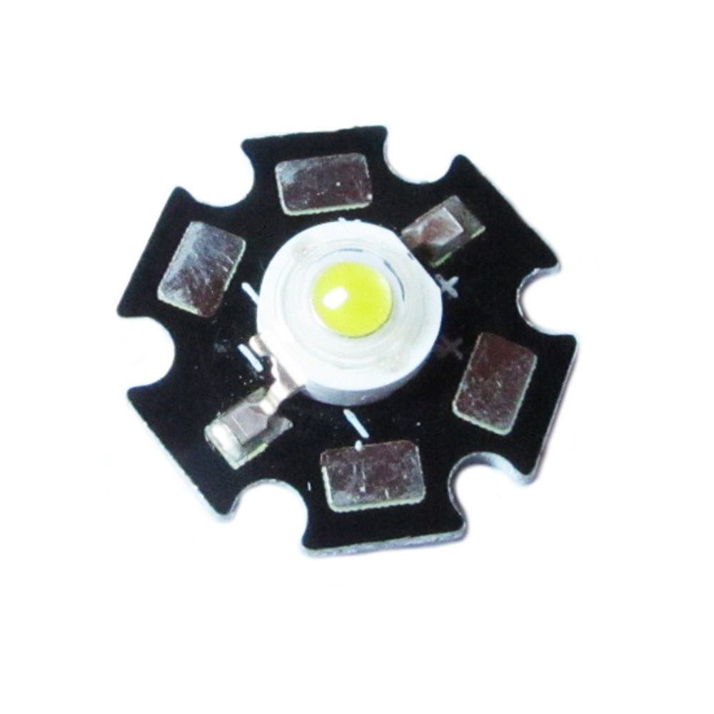 High Power White LED Chip 3W Light Module with Star Shape for Bike Lighting, Lamps and Flashlights from Optimus Electric
