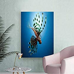 Wall Stickers for Living Room Lionfish,Sun and Oce