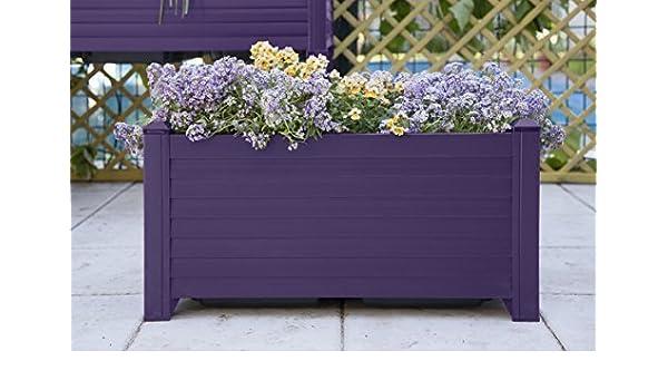 GREENLAND - Jardinera de 61 x 31,5 x 31,5 cm, color berenjena ...