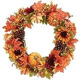 """18"""" Sunflower/Pumpkins Wreath"""