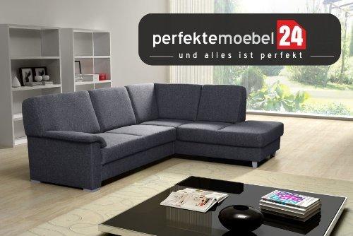 TOSCANA Couch mit Schlaffunktion Eckcouch Sofa Polster Ecke Wohnlandschaft (nebrasca)