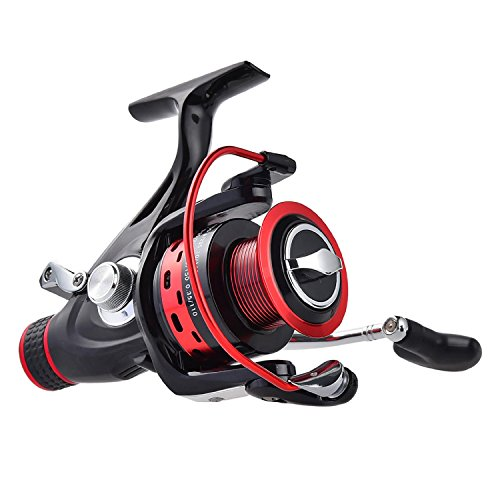 KastKing Sharky Baitfeeder Spinning Fishing Reel - 2 Spools - Carbon Fiber Drag - 33 LB Max Drag - 10+1 BBs - Best Front Drag and Rear Drag Baitrunner Spinning Reels for Carp, Catfish