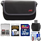 JVC CBV2013 Everio Video Camera Camcorder Case with 32GB Card + Raeder + Accessory Kit for GZ-E100, E300, E505, EX310, EX355, EX515, EX550, R10, R30, R70