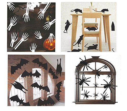 Halloween Decor Silhouettes - Mice, Bats, Spiders, and Skeletons -
