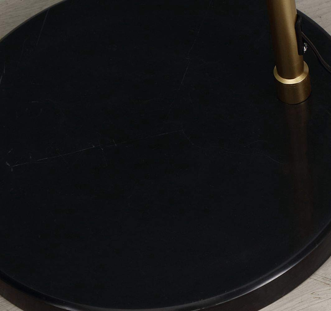 lampada ad arco dal design retr/ò E27 adatto anche per lampadine a LED con interruttore a pedale su cavo max lampada da terra vintage con paralume in metallo dorato 60 Watt Lampada da terra