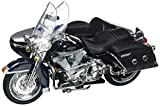 Maisto 76200 2001 Harley Davidson FLHRC Road King Classic with Side Car Black Motorcycle Model 1/18 Diecast Model