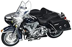 Brand new 1:18 scale diecast model 2001 Harley Davidson FLHRC Road King Classic with Side Car Black Motorcycle Model by Maisto.Brand new box.Wheels roll and steer.Made of die cast metal with some plastic parts.Approximate Dimensions: L-5.5, H...
