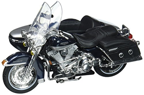 Maisto 76200 2001 Harley Davidson FLHRC Road King Classic with Side Car Black Motorcycle Model 1/18 Diecast (18 Diecast Harley Davidson Motorcycle)