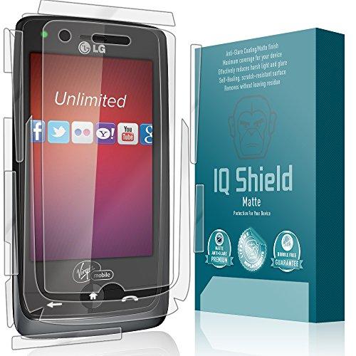 LG Rumor Touch Screen Protector, IQ Shield Matte Full Coverage Anti-Glare Full Body Skin + Screen Protector for LG Rumor Touch Bubble-Free Film - with