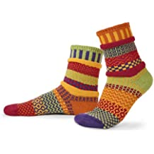 Solmate Socks, Mismatched Crew Socks, Made in USA with Recycled Cotton Yarns
