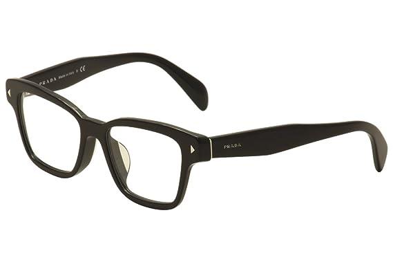 Amazon.com: Prada Eyeglasses VPR 10SF 10S-F 1AB-1O1 Black Optical ...