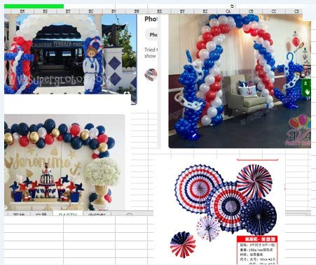 PartyWoo Red Blue and White Balloons 66 pcs 12 inch Red Balloons White Balloons Royal Blue Balloons for Captain America, Spider Man, USA Party, The Avenger Party Including Paper Pom Poms