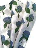 NANTUCKET HYDRANGEAS Printed Tissue Paper for Gift Wrapping, 24 Large Sheets, 20x30
