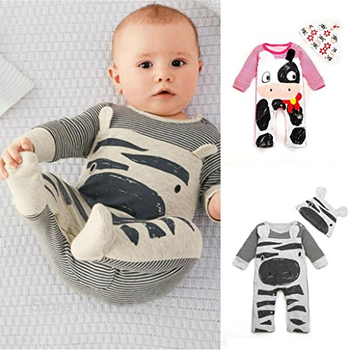 Tefamore Conjunto Batas+Sombrero La Ropa del Mameluco de Escalada Bebé Recién Nacido Otoño Invierno para Niños