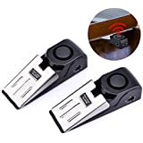 AUSHEN Door Stop Alarm 120dB Home Wedge Shaped Blocking Security Systerm for Home or Travel 2pcs Set