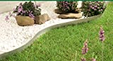 FOYUEE Versatile Garden Edging Border Galvanized Metal Fence Panels Landscape Fencing 4', set of 8