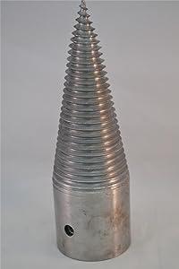 Free2Buy Splitting Cones Log Splitter Wood Splitter Screw 80 mm Cleaver Log Steel