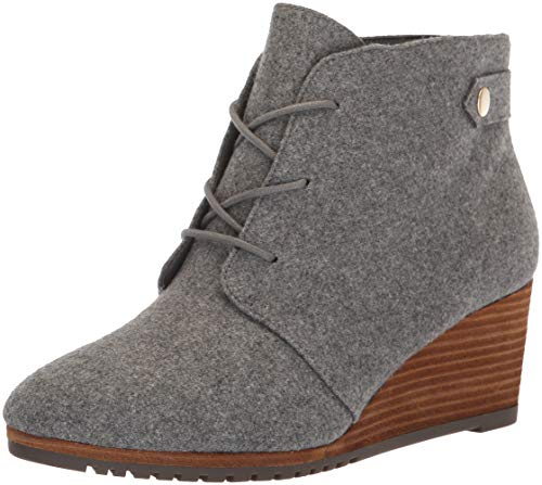 Dr. Scholl's Shoes Women's Conquer Ankle Boot, mid Grey Flannel, 8.5 M US