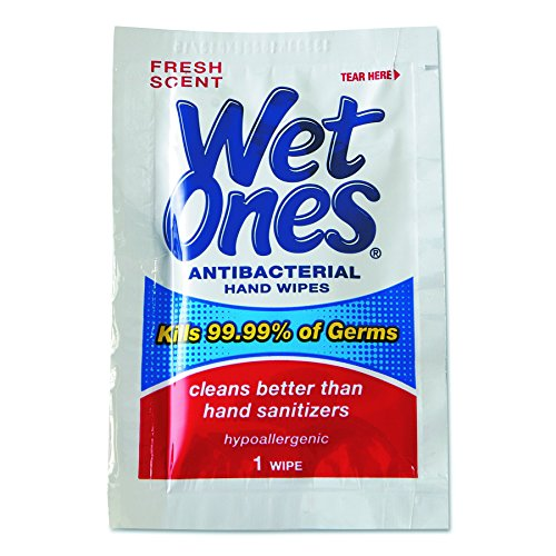 Wet Ones 4723 Antibacterial Moist Towelettes, 5 x 7 1/2, White, 1-Ply, 240 Wipes per Carton