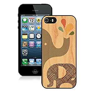 Customized Iphone 5s Black pc Case Elephant Pattern Iphone 5 Durable Silicone Cover