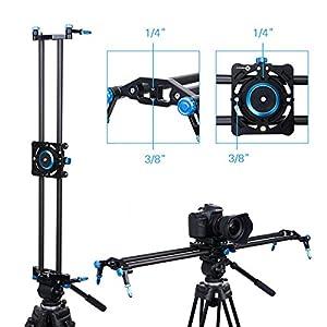 "Camera Slider Rail Owhy Brand Video Slider for DSLR Camera Carbon Fiber Track Dolly Stabilization 31""/80CM DV Video Camcorder Film Photography (Blue)"