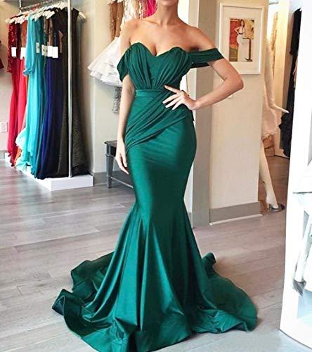 Épaule Au Large Des Femmes Dressesonline Robes De Soirée Sirène 2018 Chasseur Robe De Bal Longue