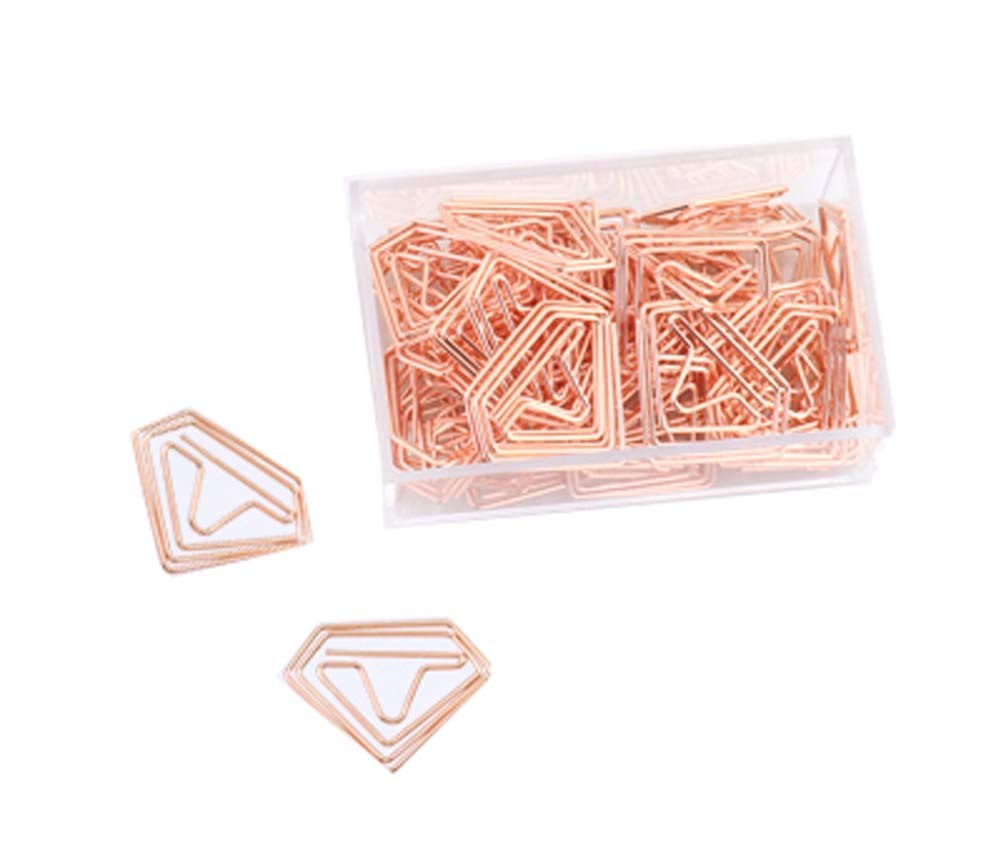 25 Pieces Design of Diamond Shape Paper Clip, C2