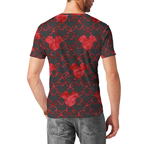 Mickey Mouse Watercolor Red Mens Sport Mesh T-Shirt Herren XS - 3XL