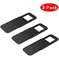 Ubitree Webcam Cover, Webcam Cover Slide Laptop Camera Cover Slide for iPhone Android Laptops Mac books PCs Tablets Smartphones Covers Your Camera for Privacy Security Black 3 Pack