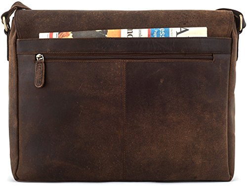 LEABAGS Oxford genuine buffalo leather messenger bag in vintage style - Muskat by LEABAGS (Image #6)