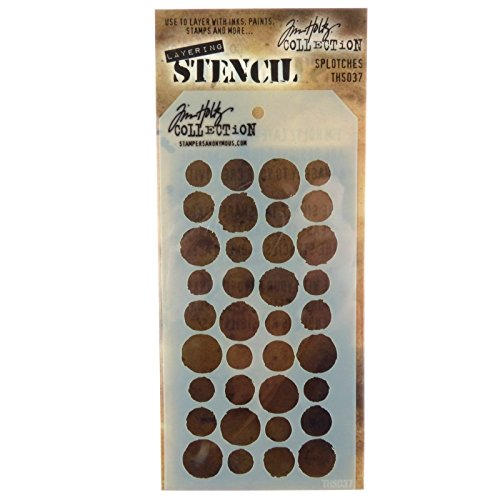 Stampers Anonymous Tim Holtz Layered Splotches Stencil, 4.125 x 8.5 THS-037