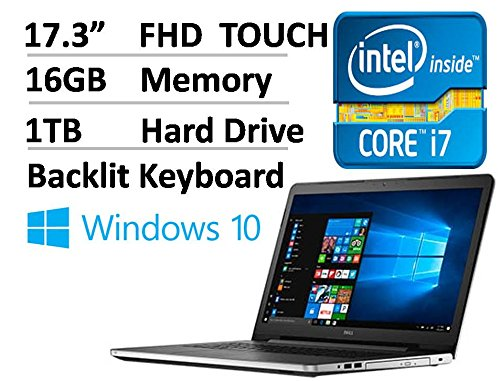 2017 Dell Inspiron 17 3 Inch Full Hd  1920 X 1080  Touchscreen Signature Edition Laptop  Intel Core I7 6500U 2 5 Ghz  16Gb Ddr4  1Tb Hdd  Dvd    Rw  802 11Ac  Bluetooth  Hdmi  Win 10   Silver
