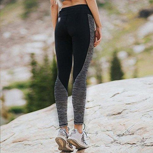 45d1e2342b4064 Napoo Women Geometry Print Colorblock Sports Gym Yoga Workout Athletic  Leggings Pants (S, Black