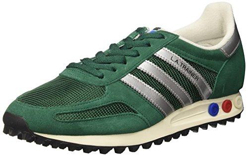 adidas La Trainer Og, Scarpe da Ginnastica Basse Uomo Verde (Collegiate Green/Matte Silver/Core Black)