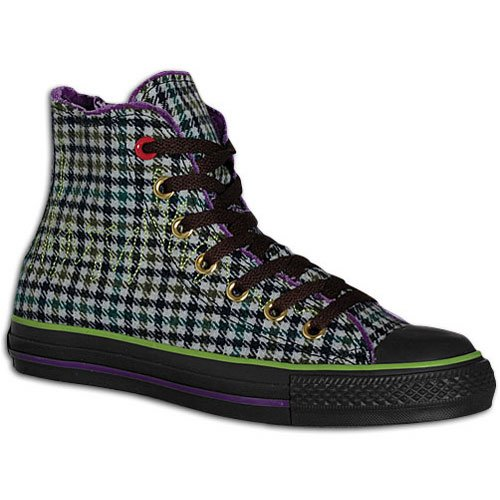 Converse Mens Kaiser Chiefs All Star Hi Chocolate / Purple / Lime