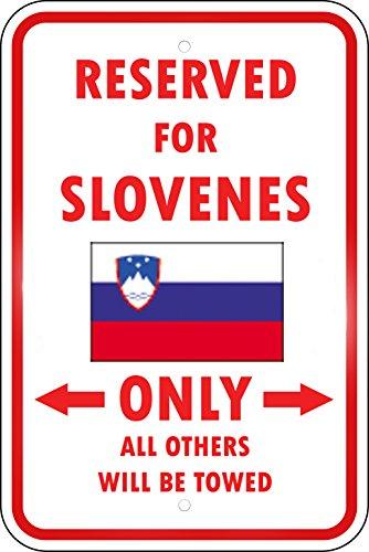 Slovenia Reserved Parking Only Slovene 12X18 Aluminum Metal Sign ()