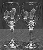 Tibetan Terrier Dog Laser Etched Wine Glass Set (2, TDW)
